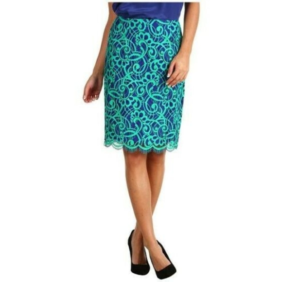 Lilly Pulitzer Dresses & Skirts - Lilly Pulitzer Hyacinth Lace Pencil Skirt